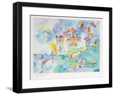 Easter Island I-Aymon de Roussy de Sales-Framed Limited Edition