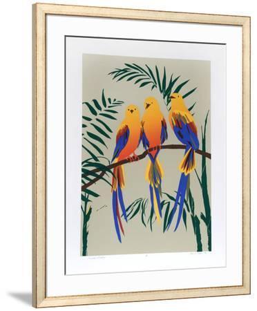 Three Tropical Birds-Anne Nipper-Framed Limited Edition