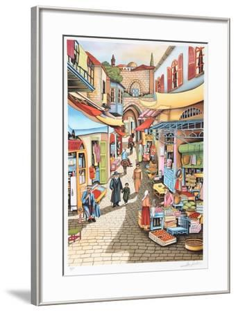 Old Jerusalem Market-Ari Gradus-Framed Limited Edition