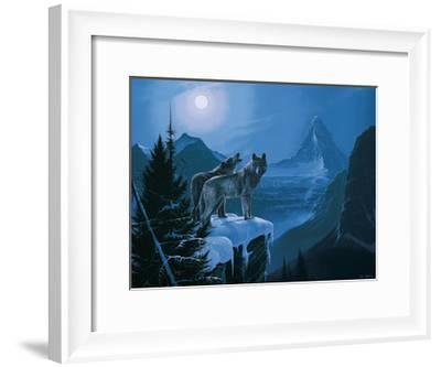 Twilight Wolves-Rod Tribiger-Framed Art Print