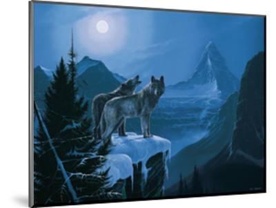 Twilight Wolves-Rod Tribiger-Mounted Art Print