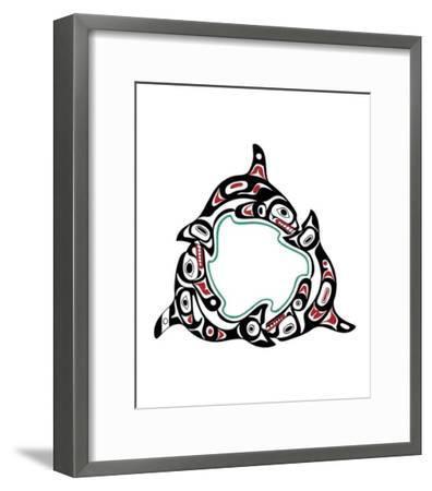 Killer Whale Pod-Odin Lanning-Framed Giclee Print