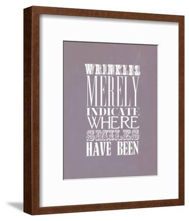 Wrinkles Merely Indicate--Framed Art Print