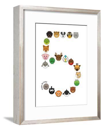 Five--Framed Art Print