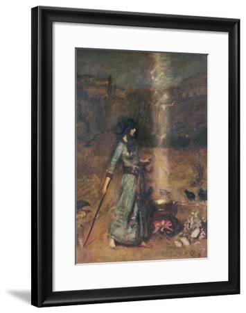 The Magic Circle-John William Waterhouse-Framed Art Print