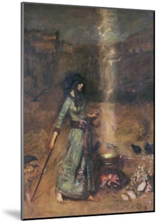 The Magic Circle-John William Waterhouse-Mounted Art Print