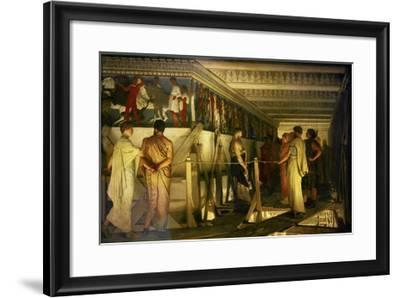 Phidias and the Parthenon Frieze-Sir Lawrence Alma-Tadema-Framed Giclee Print