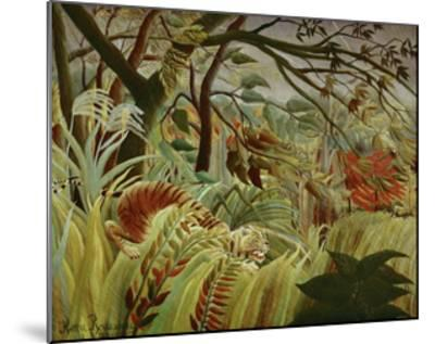 Tropical Storm with Tiger-Henri Rousseau-Mounted Art Print