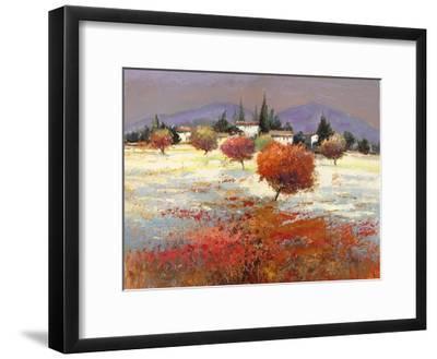 Dolci colline-Luigi Florio-Framed Art Print