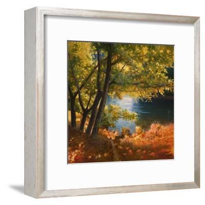 Radura sul fiume-Adriano Galasso-Framed Art Print