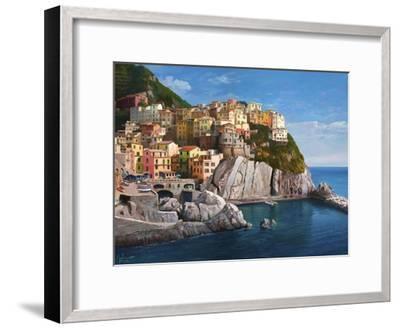 Manarola Le Cinque Terre-Adriano Galasso-Framed Art Print