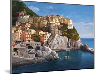 Manarola Le Cinque Terre-Adriano Galasso-Mounted Art Print