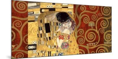The Kiss (gold montage)-Gustav Klimt-Mounted Art Print