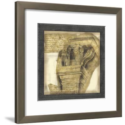 Antique Capitals II-Jennifer Goldberger-Framed Giclee Print