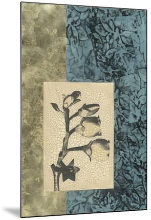 Embellished Nature's Vignette IV--Mounted Giclee Print