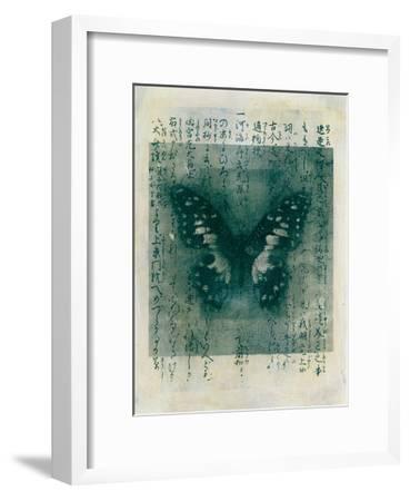 Butterfly Calligraphy I-Elena Ray-Framed Art Print