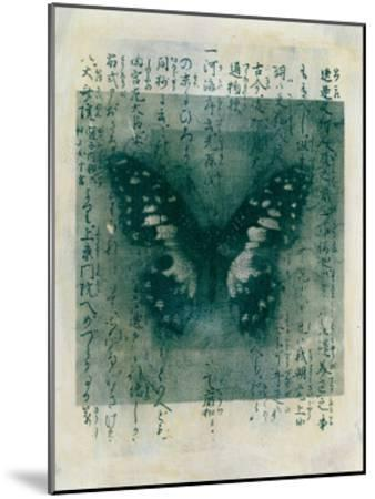 Butterfly Calligraphy I-Elena Ray-Mounted Art Print