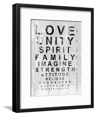 Eye Chart I Framed Art Print By Andrea James Art