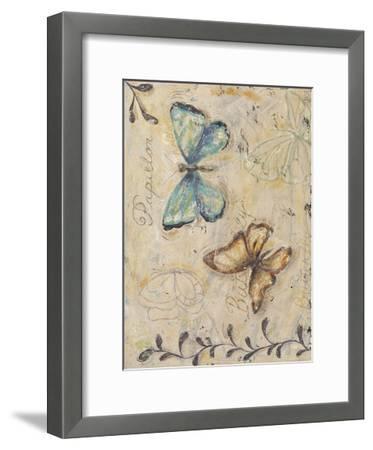 Fluttering Butterflies-Jade Reynolds-Framed Art Print