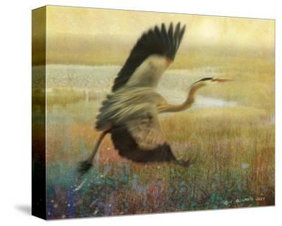 Foggy Heron-Chris Vest-Stretched Canvas Print