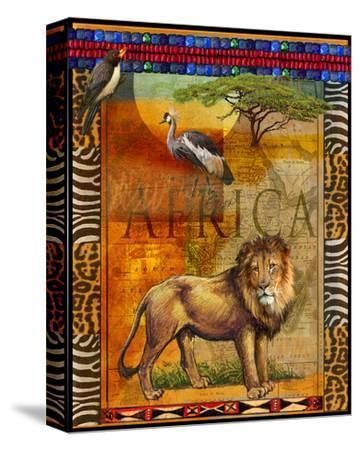 Lion I-Chris Vest-Stretched Canvas Print