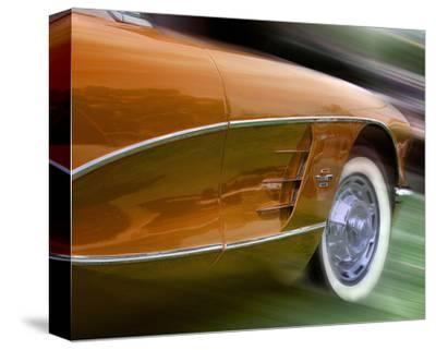 Orange Corvette-Richard James-Stretched Canvas Print