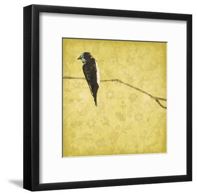Birds On Branch-Jace Grey-Framed Art Print
