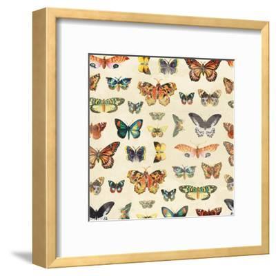 Butterfly-Jace Grey-Framed Art Print