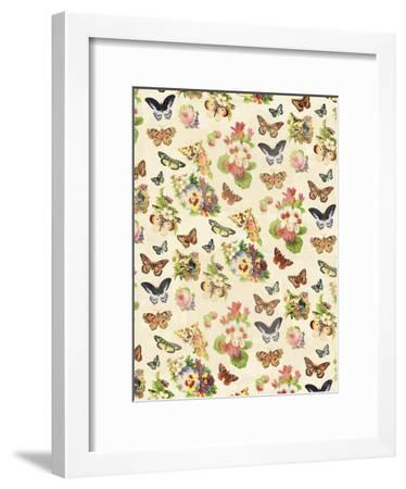 Butterflies Flowers-Jace Grey-Framed Art Print
