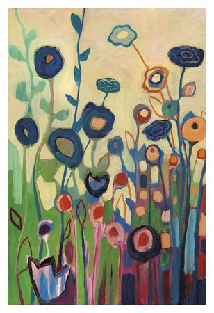 Meet Me In My Garden Dreams Pt. 1-Jennifer Lommers-Framed Art Print