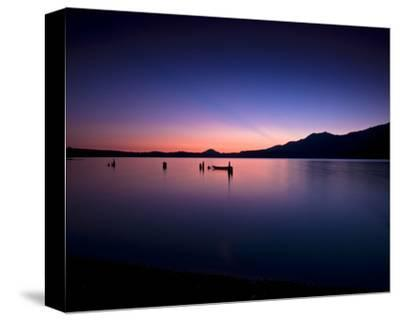 Lake Quinault Sunset-Richard Desmarais-Stretched Canvas Print