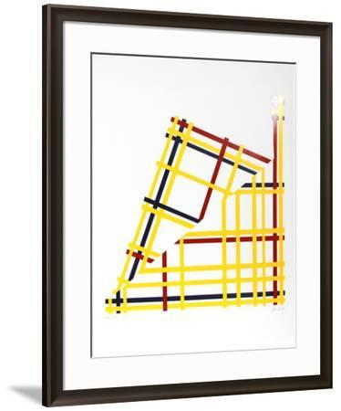 Folded NYC- Jacobs-Framed Serigraph