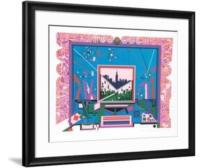 City 359-Risaburo Kimura-Framed Limited Edition