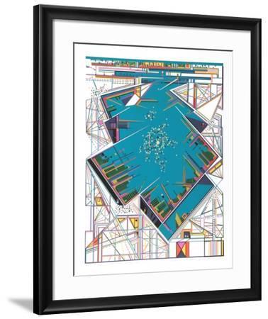 City 363-Risaburo Kimura-Framed Serigraph