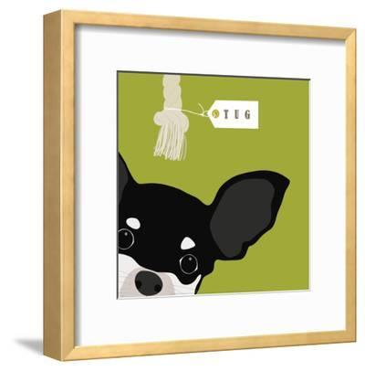Peek-a-Boo Chihuahua-Yuko Lau-Framed Art Print