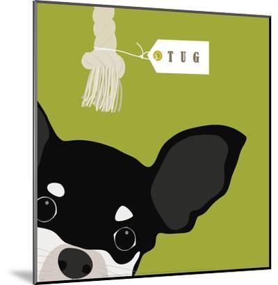 Peek-a-Boo Chihuahua-Yuko Lau-Mounted Art Print