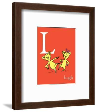 L is for Laugh (red)-Theodor (Dr. Seuss) Geisel-Framed Art Print
