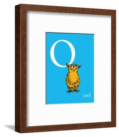 O is for Owl (blue)-Theodor (Dr. Seuss) Geisel-Framed Art Print