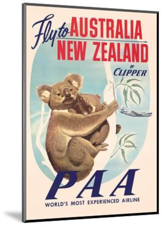 Fly to Australia and New Zealand c.1950s--Mounted Giclee Print
