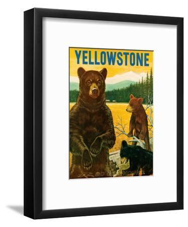 Yellowstone Go Greyhound c.1960s--Framed Art Print