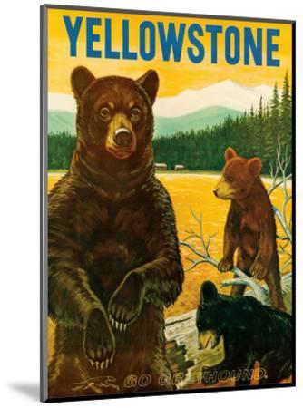 Yellowstone Go Greyhound c.1960s--Mounted Art Print