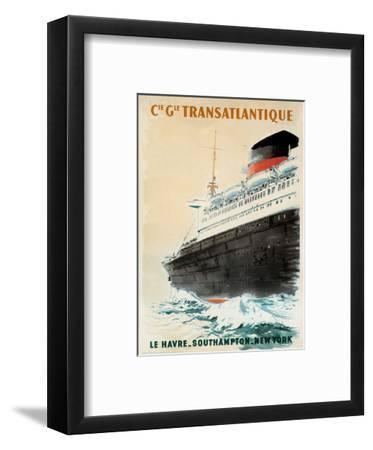 Compagnie Transatlantique-Albert Brenet-Framed Art Print