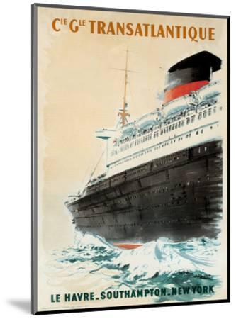 Compagnie Transatlantique-Albert Brenet-Mounted Art Print