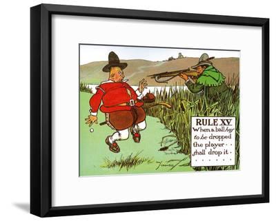 Rules of Golf - Rule XV-Charles Crombie-Framed Art Print