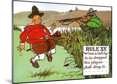 Rules of Golf - Rule XV-Charles Crombie-Mounted Art Print