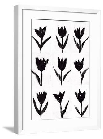 Tulip Noir Composite-Lilian Scott-Framed Art Print