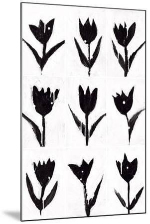 Tulip Noir Composite-Lilian Scott-Mounted Art Print