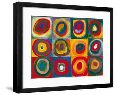 Colour Study - Squares And Concentric Circles-Wassily Kandinsky-Framed Art Print