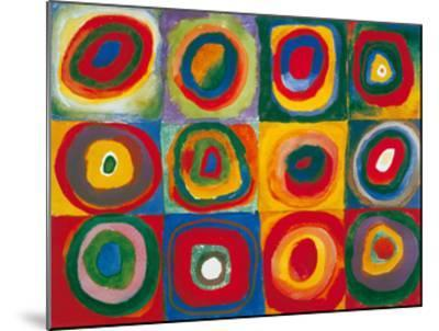Colour Study - Squares And Concentric Circles-Wassily Kandinsky-Mounted Art Print