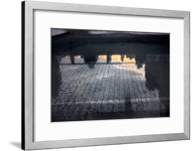 Reflection of Sunset Over New York City--Framed Poster